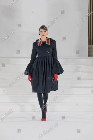 Editorial photo of Paul Costelloe show, Runway, Autumn Winter 2021, London Fashion Week, UK - 19 Feb 2021