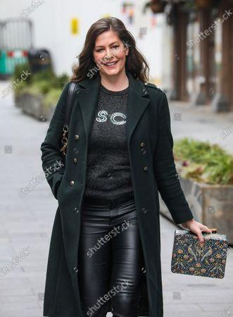 Lucy Horobin is seen departing the Global Radio Studios