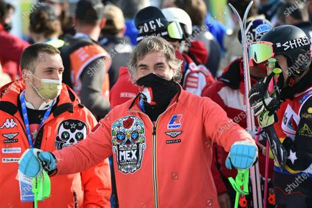 Mexico's Hubertus Von Hohenlohe attends the men's giant slalom, at the alpine ski World Championships, in Cortina d'Ampezzo, Italy