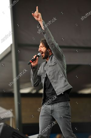 Eric Turner performs in concert during the B96 Pepsi Summerbash at Toyota Park in Bridgeview, Illinois.
