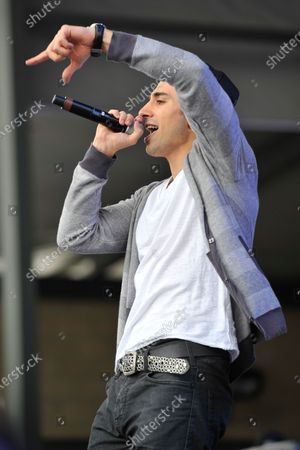 Stock Picture of Tino Coury performs in concert during the B96 Pepsi Summerbash at Toyota Park in Bridgeview, Illinois.