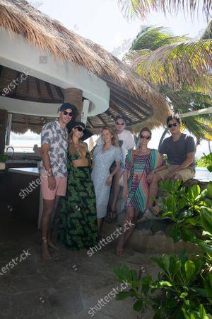 Exclusive - Carter Reum, Paris Hilton, Tessa Hilton, Barron Hilton II, Nicky Hilton Rothschild and James Rothschild
