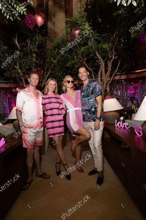 Stock Picture of Exclusive - James Rothschild, Tessa Hilton, Paris Hilton and Carter Reum