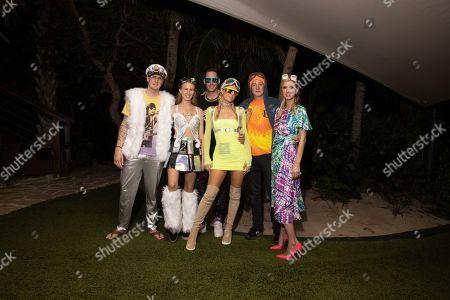 Stock Photo of Exclusive - Tessa Hilton, Carter Reum, Paris Hilton, James Rothschild and Nicky Hilton Rothschild