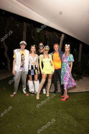 Exclusive - Barron Hilton, Tessa Hilton, Carter Reum, Paris Hilton, James Rothschild and Nicky Hilton Rothschild