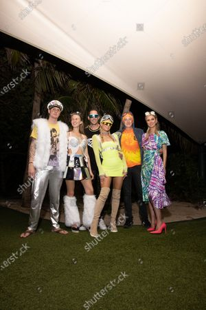 Stock Picture of Exclusive - Barron Hilton, Tessa Hilton, Carter Reum, Paris Hilton, James Rothschild and Nicky Hilton Rothschild