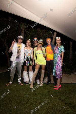 Stock Image of Exclusive - Barron Hilton, Tessa Hilton, Carter Reum, Paris Hilton, James Rothschild and Nicky Hilton Rothschild
