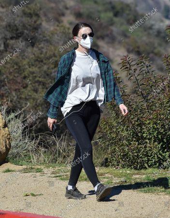 Rooney Mara is seen walking in Los Angeles.