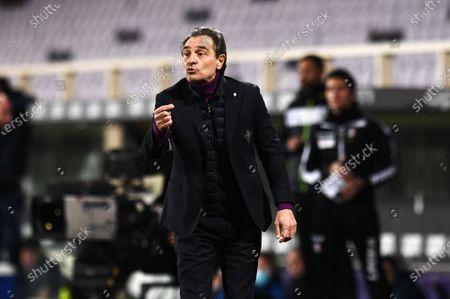 Cesare Prandelli coach of ACF Fiorentina gestures