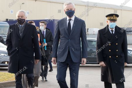 Editorial image of Travel of the Minister of the Economy to Haute Saone and Cote d'Or, Arc-les-Gray, France - 19 Feb 2021
