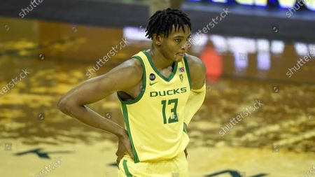 Oregon forward Chandler Lawson (13) during the second half an NCAA college basketball game, in Eugene, Ore