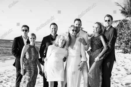 Stock Image of Exclusive - James Rothschild, Nicky Hilton Rothschild, Courtney Reum, Sherry Reum, Paris Hilton, Carter Reum, Tessa Hilton and Barron Hilton II