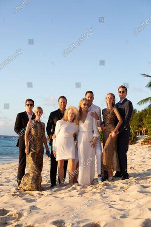 Stock Photo of Exclusive - James Rothschild, Nicky Hilton Rothschild, Courtney Reum, Sherry Reum, Paris Hilton, Carter Reum, Tessa Hilton and Barron Hilton II