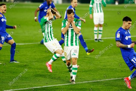 """Stock Picture of Sergio Canales (Betis) - Football / Soccer : Canales dejected after mis shot during Spanish """"La Liga Santander"""" match between Real Betis 1-0 Getafe CF at the Estadio Benito Villamarin in Sevilla, Spain."""