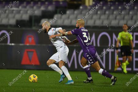 "Riccardo Saponara (Spezia)Sofyan Amrabat (Fiorentina)            during the Italian ""Serie A match between Fiorentina 3- 0 Spezia  at  Artemio Franchi Stadium in Florence, Italy."