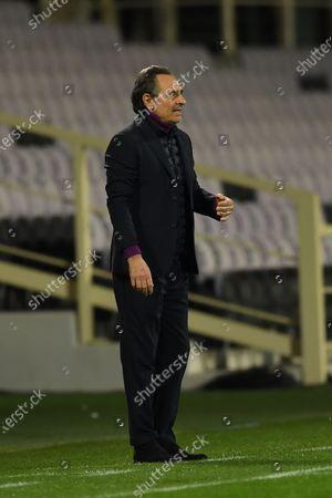 """Cesare Prandelli Coach (Fiorentina)            during the Italian """"Serie A match between Fiorentina 3- 0 Spezia  at  Artemio Franchi Stadium in Florence, Italy."""