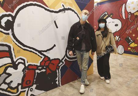 Editorial image of Virus Outbreak Snoopy, Taipei, Taiwan - 20 Feb 2021