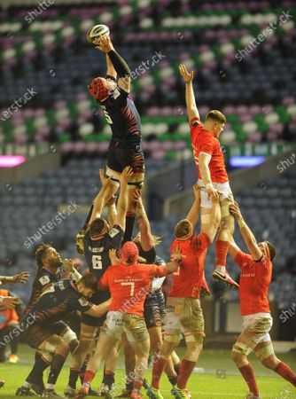 Grant Gilchrist - Edinburgh lock wins a line out.