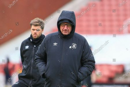 Stock Image of Luton Town first team coach Paul Hart during the EFL Sky Bet Championship match between Stoke City and Luton Town at the Bet365 Stadium, Stoke-on-Trent