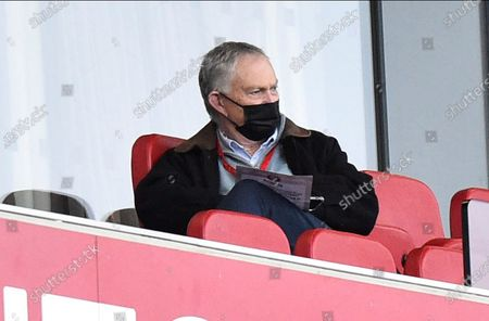 Former Executive Chairman of the Premier League Richard Scudamore in the stands during the EFL Sky Bet Championship match between Bristol City and Barnsley at Ashton Gate, Bristol