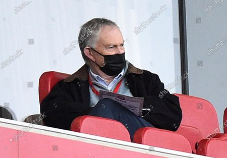 Stock Photo of Former Executive Chairman of the Premier League Richard Scudamore in the stands during the EFL Sky Bet Championship match between Bristol City and Barnsley at Ashton Gate, Bristol