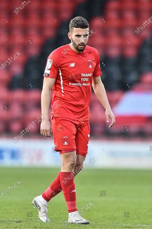 Leyton Orient Nick Freeman (28)  during the EFL Sky Bet League 2 match between Leyton Orient and Port Vale at the Breyer Group Stadium, London