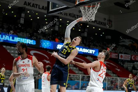 Sweden's Jonas Jerebko during a Eurobasket 2022 Group D, qualifier basketball match between Turkey and Sweden, in Istanbul, . Turkey won the match 88-80