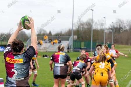 Editorial photo of Harlequins Women vs Wasps FC Ladies, Allianz Premier 15s, Surrey Sports Park Guildford, England, UK - 20 Feb 2021