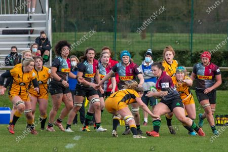 Editorial picture of Harlequins Women v Wasps FC Ladies, Allianz Premier 15s, Guildford, UK - 20 Feb 2021