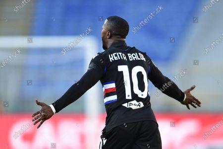 Balde Keita of Sampdoria in gesture