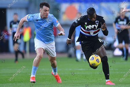 Patric of Lazio and Keita Balde of Sampdoria