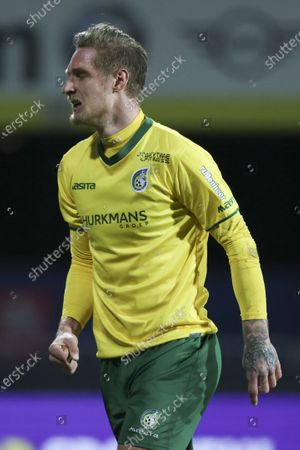 Sebastian Polter of Fortuna Sittard cheers after his 2-0