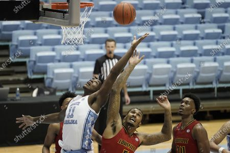 Editorial photo of Louisville North Carolina Basketball, Chapel Hill, United States - 20 Feb 2021
