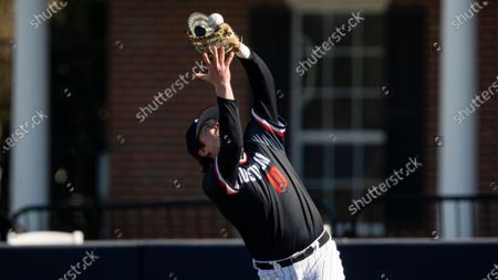 Stock Picture of Austin Peay first baseman John McDonald (10) catches a pop fly during an NCAA baseball game against Dallas Baptist, in Dallas. Dallas Baptist won 13-2