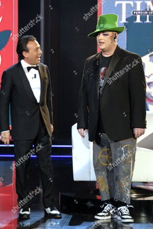 Piero Chiambretti and Boy George
