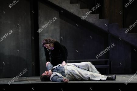 Stock Image of Diego Torre in the role of Cavaradossi and Carmen Giannattasio in the role of Tosca.