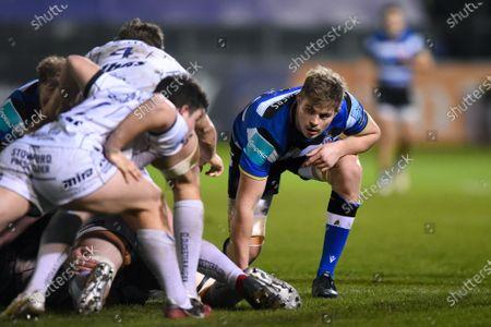 Tom Ellis of Bath Rugby looks on