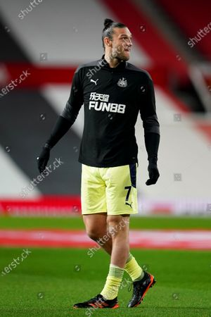 Andy Carroll of Newcastle United during the pre-match warm-up