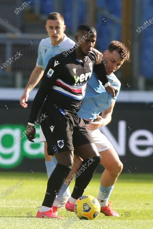 Keita Balde (Sampdoria), Patric (LAZIO) in action