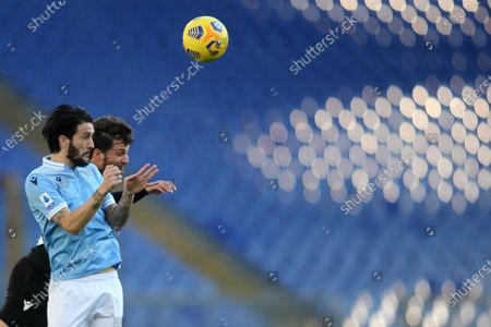 Stock Image of Luis Alberto (LAZIO), Adrien Silva (Sampdoria) in action