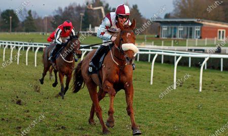 PEEJAYBEE (James Bowen) wins The Mansionbet Standard Open National Hunt Flat Race Market Rasen