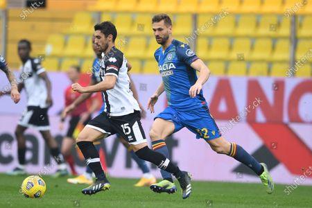 "Gaston Brugman Duarte  (Parma)Fernando Llorente (Udinese)           during the Italian ""Serie A match between Parma 2-2 Udinese at  Ennio Tardini Stadium in Parma, Italy."