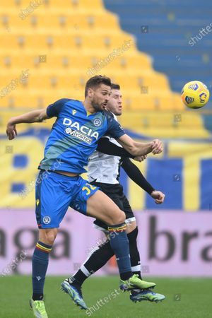 """Fernando Llorente (Udinese)Riccardo Gagliolo (Parma)           during the Italian """"Serie A match between Parma 2-2 Udinese at  Ennio Tardini Stadium in Parma, Italy."""