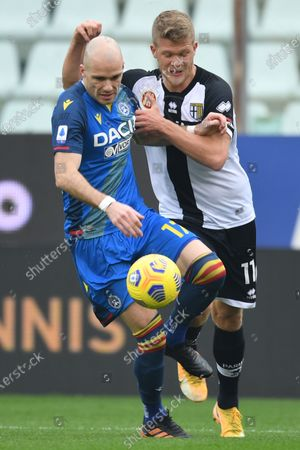 Editorial photo of Soccer: Serie A 2020-2021 : Parma 2-2 Udinese, Parma, Italy - 21 Feb 2021