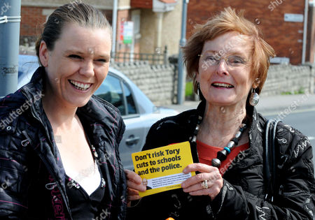 Editorial picture of Gordon Brown's Mother-in-Law Pauline Macaulay out canvassing, Weymouth, Britain - 30 Apr 2010