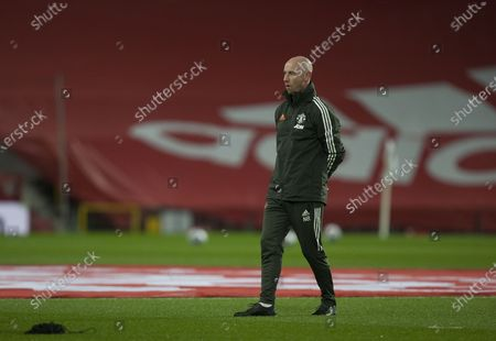Stock Image of Nicky Butt takes coaching duties before the match