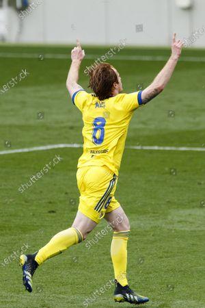 08 Alex Martin of Cadiz CF celebrating his goal during Spanish La Liga match between FC Barcelona and Cadiz CF