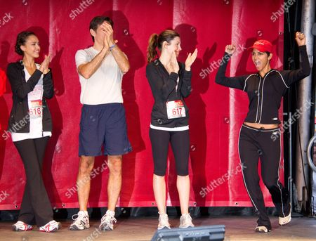 Stock Image of Jessica Alba, Dr Mehmet Oz, Jennifer Biel and Halle Berry