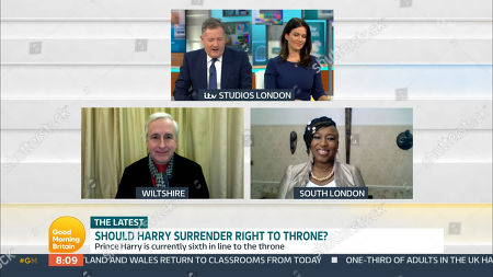 Editorial image of 'Good Morning Britain' TV Show, London, UK - 22 Feb 2021
