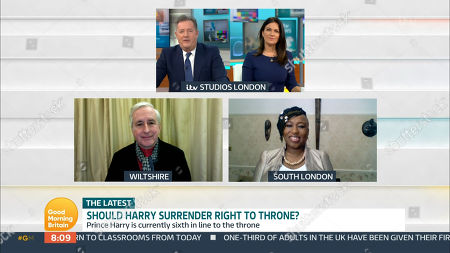 Piers Morgan, Susanna Reid, Hugo Vickers and Dr Shola Mos-Shogbamimu